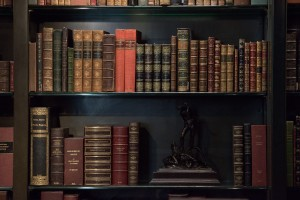 Books Shelf inside a library